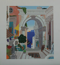 """Thomas McKnight """"CLASSICAL CITY GATE"""" Signed and Numbered Serigraph with COA!"""