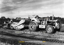 CATERPILLAR DW20 SCRAPER AND D8 CRAWLER A3 POSTER PRINT PICTURE PHOTO IMAGE