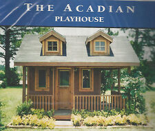 Acadian Playhouse and Creole Cottage Building Plans