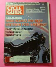 CYCLE GUIDE MAGAZINE APRIL/1983..U.S.A. VS JAPAN: WHO MAKES THE BEST VEE-TWIN