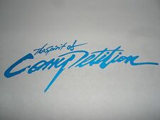 Blue The Spirit of Competition Auto Car Truck Vinyl Graphics Decal Sticker USA
