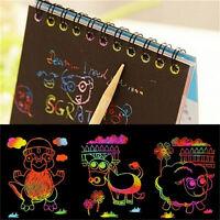 Niños papelería Set Notebook Stylus papel Nota dibujo educat*QA
