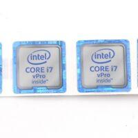 100x  NEW Sticker Badge Label case for laptop CORE i7 vPro inside 18*18mm ST063