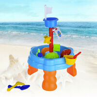 Home Outdoor Kids Toy Round Sand Water Table Beach Tools Summer Funny Beach Game