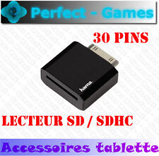 Adaptateur carte mémoire SD card reader tablette SAMSUNG GALAXY TAB 1 2 30 pins