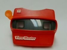 Vintage Red Viewmaster 3D View-Master Viewer Toy W/ ORIGINAL VIEW CARD & 9 MORE