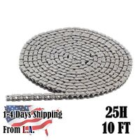 #25H Heavy Duty Roller Chain 10 Feet with 1 Connecting Link