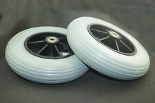 """1pair of 8""""x 2"""" Front Castor Solid Wheels for many Standard Wheelchairs 200x50mm"""