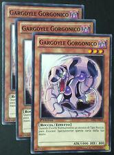 Set 3X GARGOYLE GORGONICO LVAL-IT012 Comune in Italiano YUGIOH