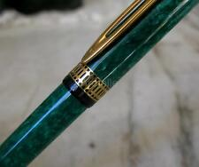 GORGEOUS WATERMAN PATRICIAN GREEN MARBLED & SOLID GOLD 18 CARATS FOUNTAIN PEN
