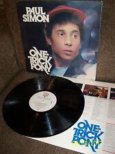 PAUL SIMON One Trick Pony 1980 Warner LP HS 3472 EXC/EXC+ w/lyric sleeve