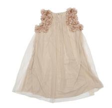 Designer Kidz Petal Dress Champagne Brand New Size 5