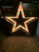 "VINTAGE NOMA 23"" LIGHTED STAR 80 LIGHTS IN MOTION INDOOR/OUTDOOR"