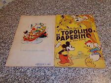 ALBUM TOPOLINO E PAPERINO(PICCOLO)LAMPO 1952 COMPLETO(-12 FIG) BUONO TIPO PANINI