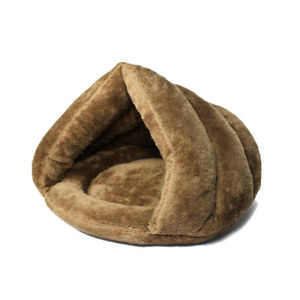 Cat Bed Cave House Bed - Beds Warm Pet  Covered  Fleece Tunnel Tube & Kitty Mat