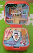 VINTAGE BLUEBIRD POLLY POCKET LULU & HER SPEEDBOAT COMPACT 100% COMPLETE 1991 EX