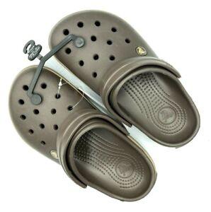 Crocs unisex-adult Crocband Clog | Comfortable Casual Water Shoe Espresso/Khakhi