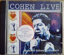 Leonard Cohen - Cohen Live In Concert (CD 1994) (Live Recording)