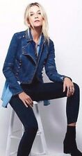 NWT $148 FREE PEOPLE MILITARY DENIM JACKET, SIZE SMALL