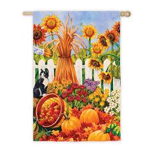 "29"" x 43"" HARVEST FIELD Autumn Fall Large Decorative Banner Flag"