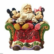 Disney Traditions Christmas Wishes Santa with Mickey & Minnie NEW 25342