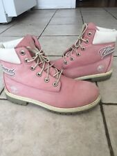 TIMBERLAND Youth GIRLS 6-Inch Premium Pink Hiking Boots Limited Edition sz.6 US