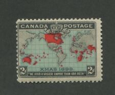 1898 Canada 2 Cent Postage Stamp #86 Mint Never Hinged Fine Original Gum