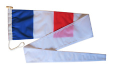More details for france flag pennant streamer with rope and toggle - various sizes
