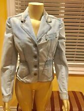 D&G By DOLCE & GABBANA LIGHT BLUE DENIM JACKET, Size 40