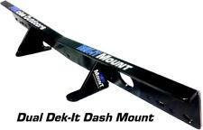 Procise Kit-Dual-Dm-Bk Dek-It Gps Electronic Dash Mount 24.75Lx3.75Wx3.25H Md
