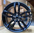 18X8 +35 5X112 GLOSS BLACK RS STYLE WHEELS FITS VW CC Beetle Audi A3 A4 A5