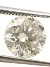 ROUND SOLITAIRE LOOSE NATURAL DIAMOND TCW 0.90 O-P VS2 GIA bridal engagement