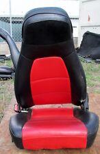 1990-1997 Mazda MX-5 Miata Custom Red and Black Leather Driver Seat No. 443