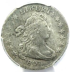 1807 Draped Bust Dime 10C - Certified PCGS XF Details (EF) - Rare Coin!