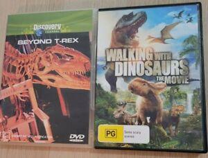 2 x Dinosaur DVDs Region 4 PAL Beyond T-Rex + Walking with Dinosaurs The Movie