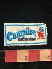 Vintage Snack Food Cute Logo CAMPFIRE MARSHMALLOWS Advertising Patch 99Y7