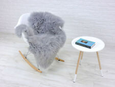 LUXURY GENUINE BRITISH SINGLE SHEEPSKIN RUG DYED GREY EXTRA LARGE M233