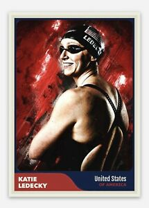 Katie Ledecky United States USA Women's Swimming 2020 Olympics Trading Card