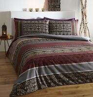 FUSION INDIAN DESIGN REVERSIBLE DUVET COVER SET IN DOUBLE KING SUPERKING SIZE