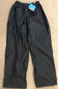 NWT Mens Columbia Black Omni-tech Waterproof Packable Pants - Size XXL 34 Inseam
