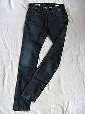 We Are Replay Damen Blue Jeans Stretch W28/L34 low waist slim fit waxed wash
