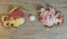 Vintage Bradley Japan Lusterware Fish Ceramic Wall Pocket