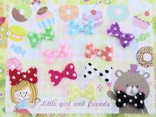 200 Mix Mini Polka Dot Satin Bow Tie 10mm Applique/trim/padded/fabric/bow L42