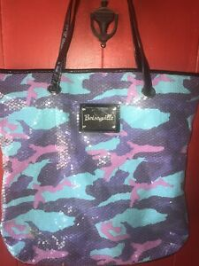 Betsy Johnson Extra Large Summer Tote Sequence Real Nice Wild