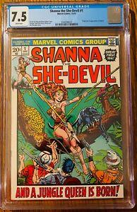 Shanna the She-Devil #1 CGC 7.5 WP (1st App & Origin of Shanna) Bronze Age Marve