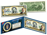 CALVIN COOLIDGE * 30th U.S. President * Colorized $2 Bill - Genuine Legal Tender