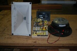"""EAW/RCF Components Out of AS460 Cabinet, 10"""" Spk, Horn, Driver, Crossover!"""