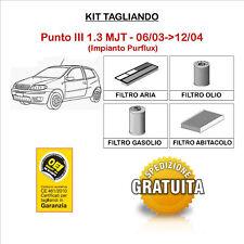 KIT TAGLIANDO 4 FILTRI TECNECO FIAT Punto III 1.3 MULTIJET 06/03->12/04
