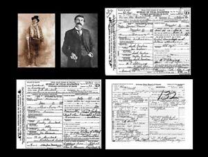 Billy the Kid PHOTO +DEATH CERTIFICATE Lot, Gang of REGULATORS + Pat Garrett Pic