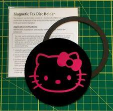 Disco De Impuestos Universal Magnetica & permiso titular-Hello Kitty Rosa